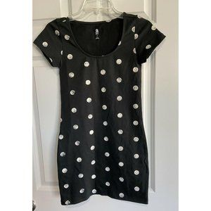 ADIDAS Neo Polka Dot Dotted Scoop Neck Dress M NWT